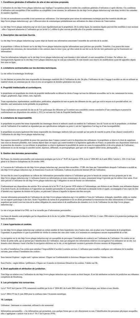 Mentions legales pi plaque comparatif - Cafetiere italienne comment ca marche ...